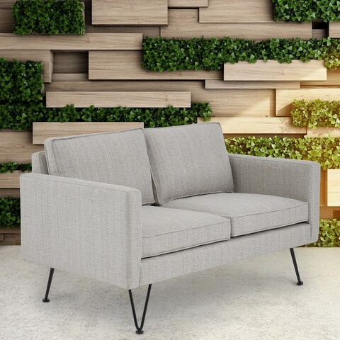 INK+IVY Austin Beige Multi/Dark Bronze Outdoor Loveseat
