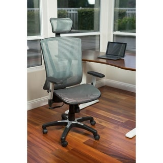 Fully Meshed Ergo Office Chair with Headrest (Grey)