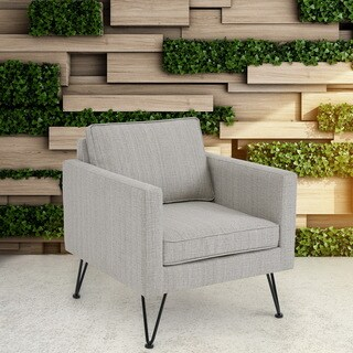 INK+IVY Austin Beige Multi/ Dark Bronze Outdoor Lounge