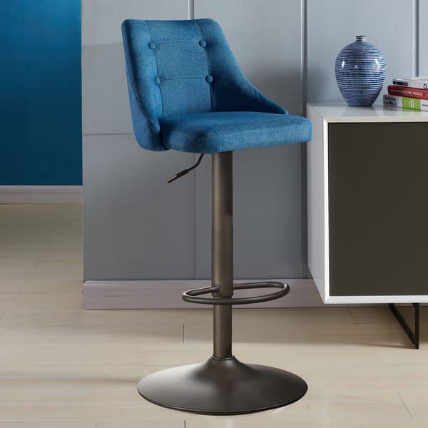 Fabulous Shop Adyson Fabric Adjustable Height Stools On Sale Free Cjindustries Chair Design For Home Cjindustriesco