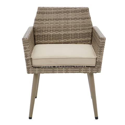 INK+IVY Avery Light Grey/ Grey Outdoor Arm Chair (Set of 2)