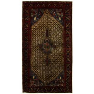 Herat Oriental Persian Hand-knotted Tribal Nahavand Wool Runner (5'1 x 9'5)