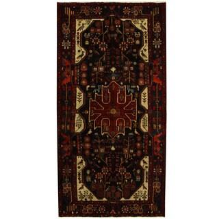 Herat Oriental Persian Hand-knotted Tribal Nahavand Wool Runner (5'3 x 10'6)