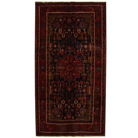 Handmade One-of-a-Kind Hamadan Wool Runner (Iran) - 5'5 x 10'4