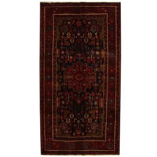 Herat Oriental Persian Hand-knotted Tribal Hamadan Wool Runner (5'5 x 10'4)