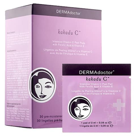 DERMAdoctor Kakadu C Intensive Vitamin C Peel Pads with Ferulic Acid & Vitamin E (30 Pads)