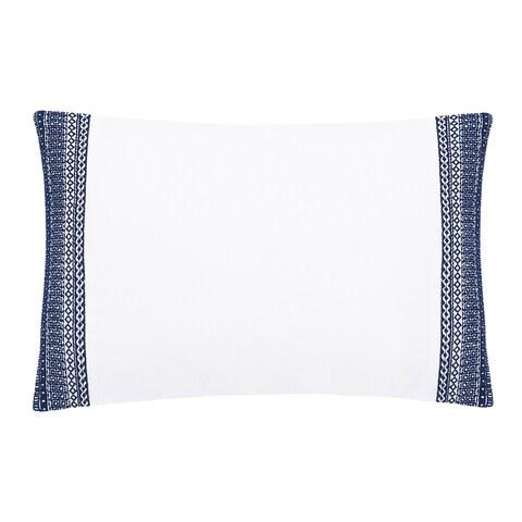 Sofia Embroidered Belgian Linen Boudoir Pillow