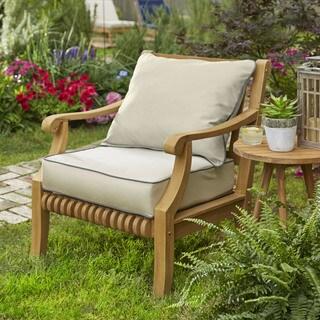 Kokomo Teak Lounge Chair Pillow and Cushion Set with Sunbrella Fabric