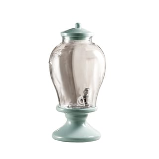 Sanford Glass Beverage Dispenser with Ceramic Lid and Stand