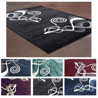 Super Soft Contemporary Multicolor Abstract Pattern Area Rug (5'3 x 7'2)
