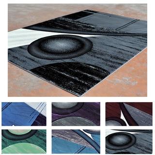 Super Soft Multicolor Abstract Contemporary Area Rug (5'3 x 7'2)