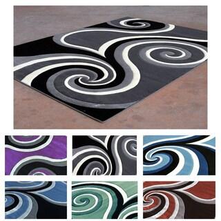 Contemporary Super Soft Swirl Area Rug (5'3 x 7'2)