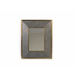 27-INch Tall Lille Metal and Stone Beveled Wall Mirror