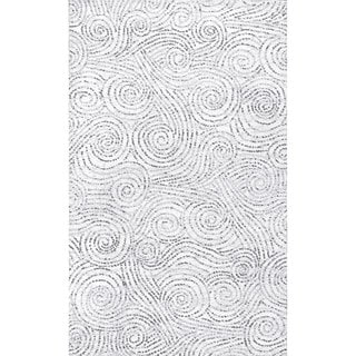 nuLOOM Ivory Contemporary Abstract Sea Breeze Swirls Area Rug (Ivory - 5 x 8)