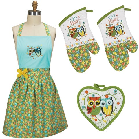 Kay Dee Designs Apron, Pot Holder, And 2 Oven Mitt, 4 Piece Set