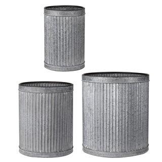 S/3 Clemson Vertical Ridge Metal Pots