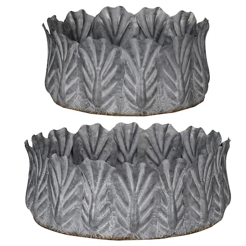 A&B Home Acoma Galvanized Metal Bowls (Set of 2)