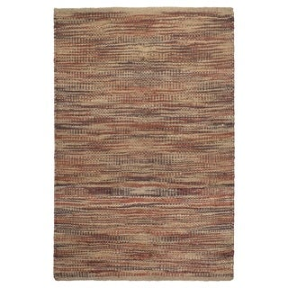 Fab Habitat, 100% Sustainable Jute Area Rug/Floor Mat, Eco-friendly Natural Fibers, Handwoven/Canyonlands, Multi- Size 8'x10'