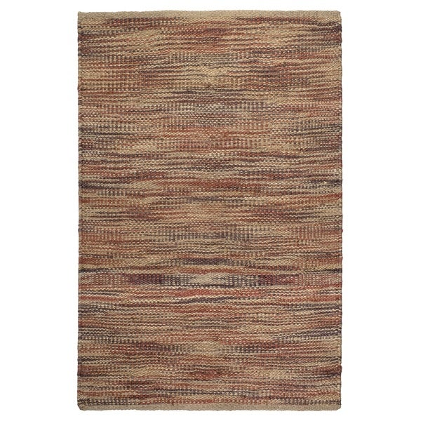 Handmade Fab Habitat, 100% Sustainable Jute Area Rug/Floor Mat,  Eco-friendly Natural Fibers, Multi (India) - 3' x 5'