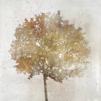 Gold Tree 01 canvas art gel brush finish 24X24