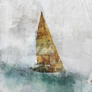 Sailing 02 canvas art gel brush finish 24X24