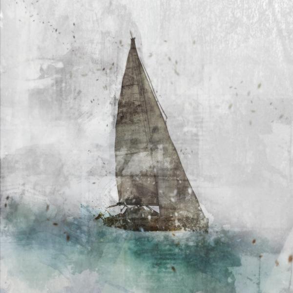 Sailing 01 canvas art gel brush finish 24X24