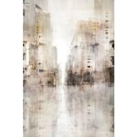 Grey Matter 01 canvas art gel brush finish 24X36