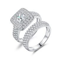 Gold-plated Engagement Ring Set