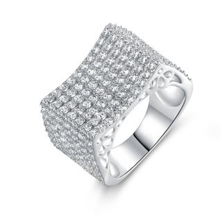 Gold-plated Brass and Cubic Zirconia Cocktail Ring