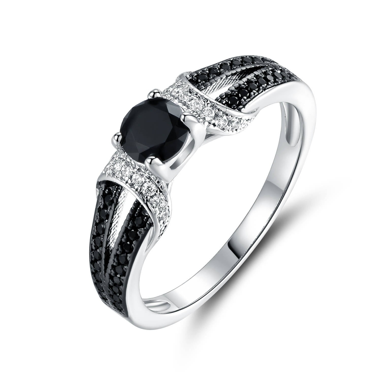 Peermont Jewelry Gold Plated Black Onyx Quartz & Cubic Zi...