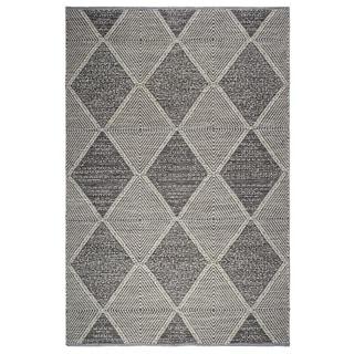 Fab Habitat, Indoor/Outdoor Floor Mat/Rug - Handwoven, Made from Recycled Plastic Bottles - Hampton/Grey - 8' x 10'
