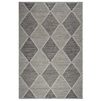 Fab Habitat, Indoor/Outdoor Floor Rug - Handwoven, Made from Recycled Plastic Bottles - Hampton/Grey - 8' x 10' - 8' x 10'