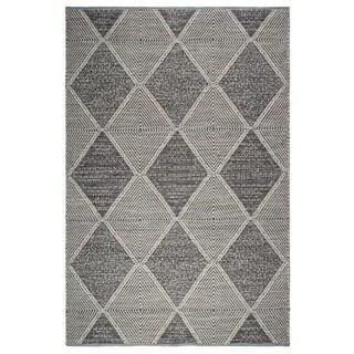 Handmade Hampton and Gray Floor Rug - 5' x 8' (India)