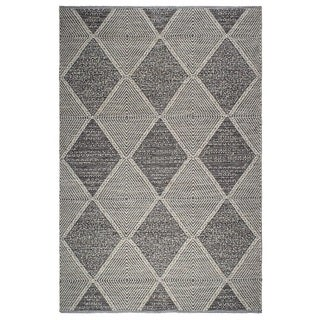 Fab Habitat, Indoor/Outdoor Floor Mat/Rug - Handwoven, Made from Recycled Plastic Bottles - Hampton/Grey - 4' x 6'