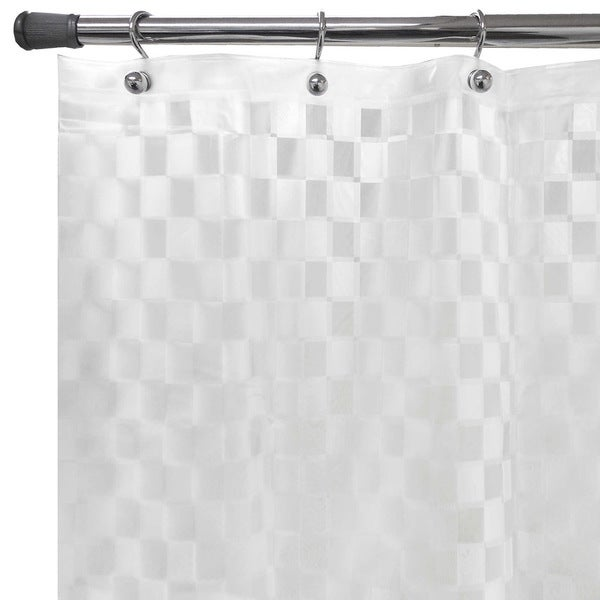 """Cubic Embossed Clear PEVA Shower Curtain (70""""X72"""")"""