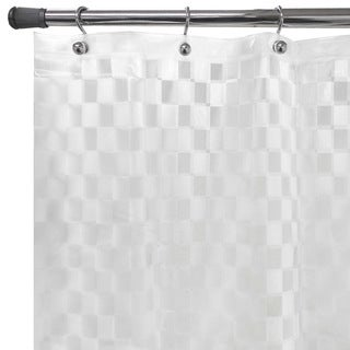 "Cubic Embossed Clear PEVA Shower Curtain (70""X72"")"