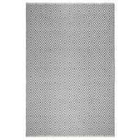 Fab Habitat, Indoor/Outdoor Floor Rug - Handwoven, Made from Recycled Plastic Bottles - Veria/Grey & White - 8' x 10'