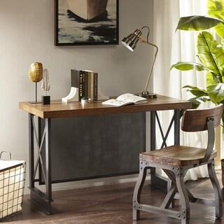 Madison Park Afton Walnut/ Graphite Industrial Desk