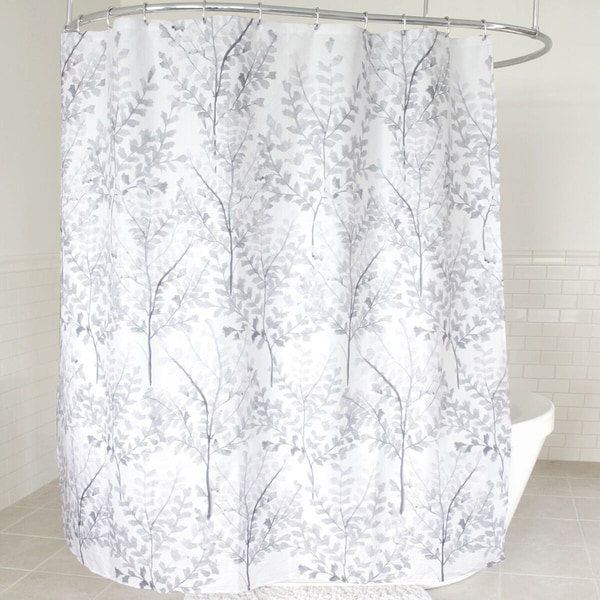 "Yin Fabric Shower Curtain (70""x72"") Grey"