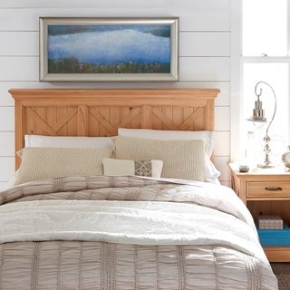 Country Lodge Queen/Full Headboard & Night Stand - Honey