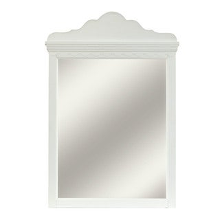 Hillsdale Furniture Lauren White Wood Mirror