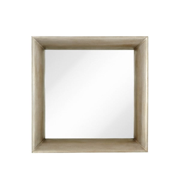 Shop Majestic Modernist Mirror with Dimensional Antique Silver Leaf ...