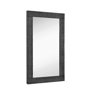 Majestic Black Whitewashed Wood Oversized Rectangular Wall Mirror