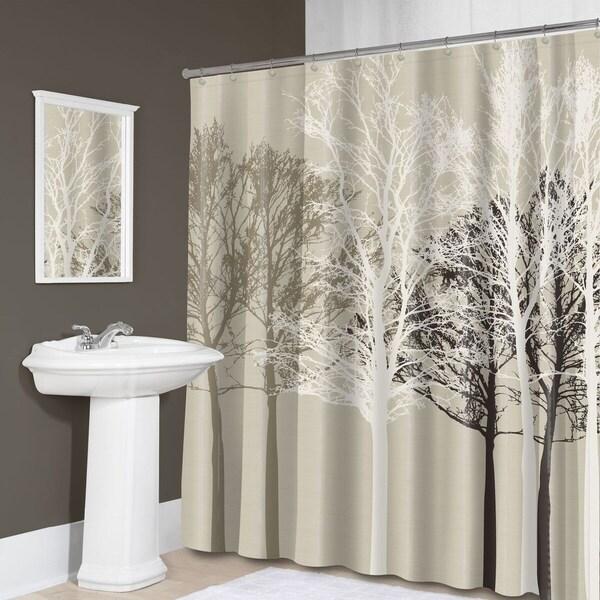 Shop Forest Fabric Shower Curtain 70 Quot X72 Quot Beige Free