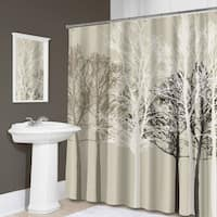 "Forest Fabric Shower Curtain (70""x72"") Beige"