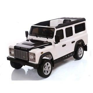 Best Ride On Cars White 12-Volt Range Rover Defender Ride On Toy