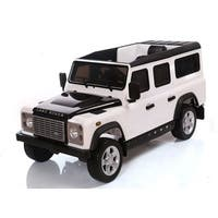 Best Ride On Cars White 12-Volt Range Rover Defender Ride On Toy