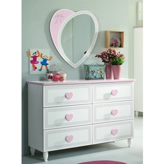 My Youth Princess 6-drawer Dresser with Mirror