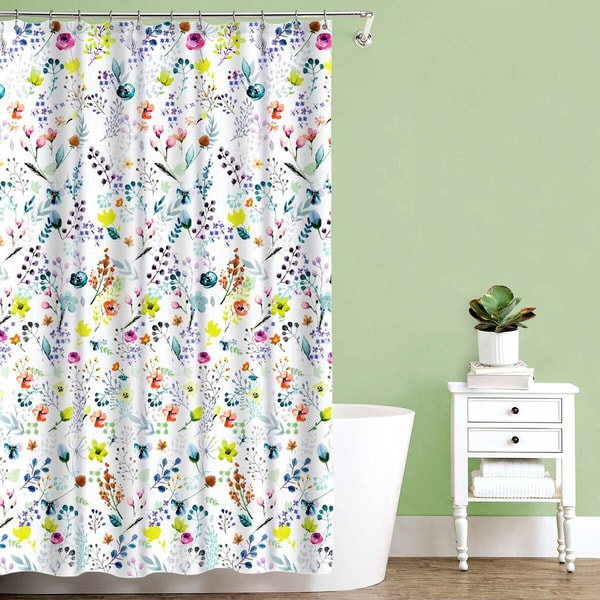 "Fiore Fabric Shower Curtain (70""x72"")"