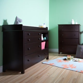 South Shore Little Smileys Changing Table and 4-Drawer Chest Set